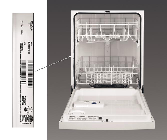 Find Whirlpool Dishwasher Service Manual By Model Number